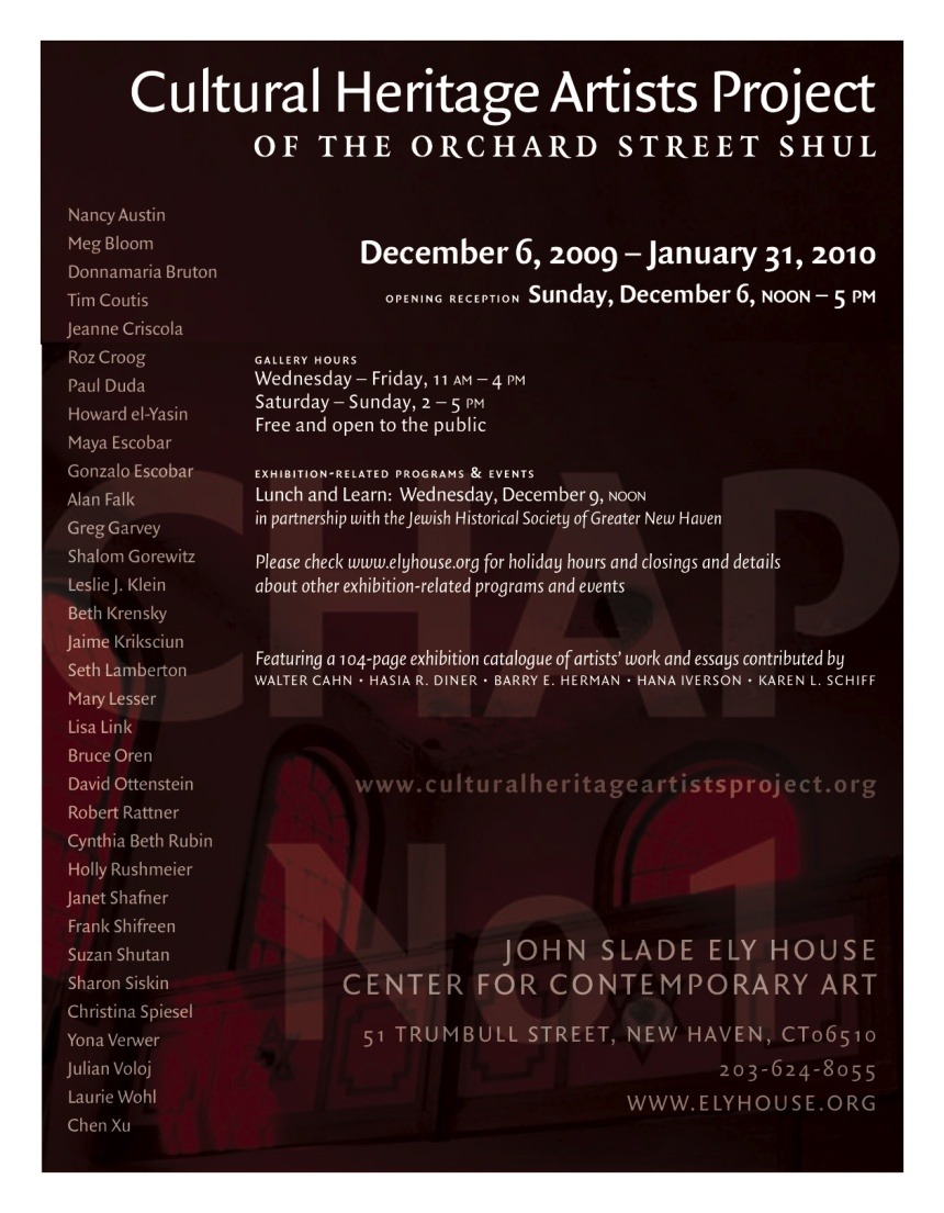 Orchard Street Shul Cultural Heritage Artists Project