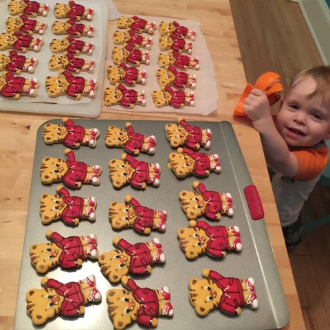 Daniel Tiger Royal Icing Cookies