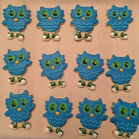 O the Owl Royal Icing Cookies