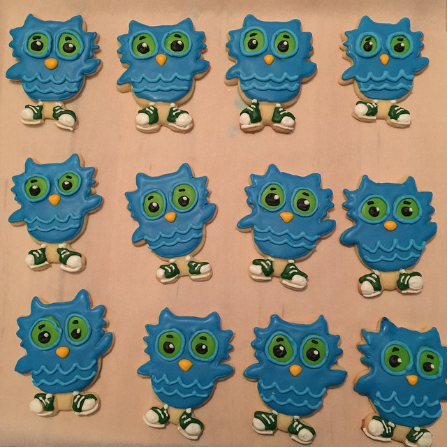 O the Owl Royal Icing Cookies