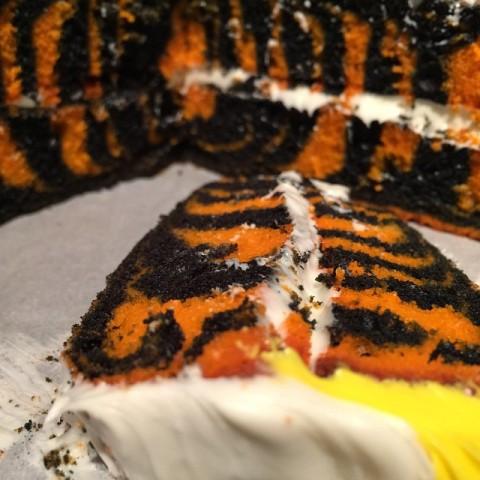 Tiger Cake Inside