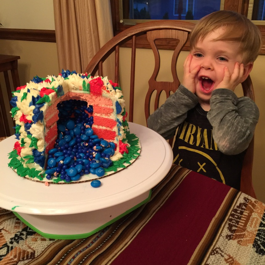 My toddler and the cake