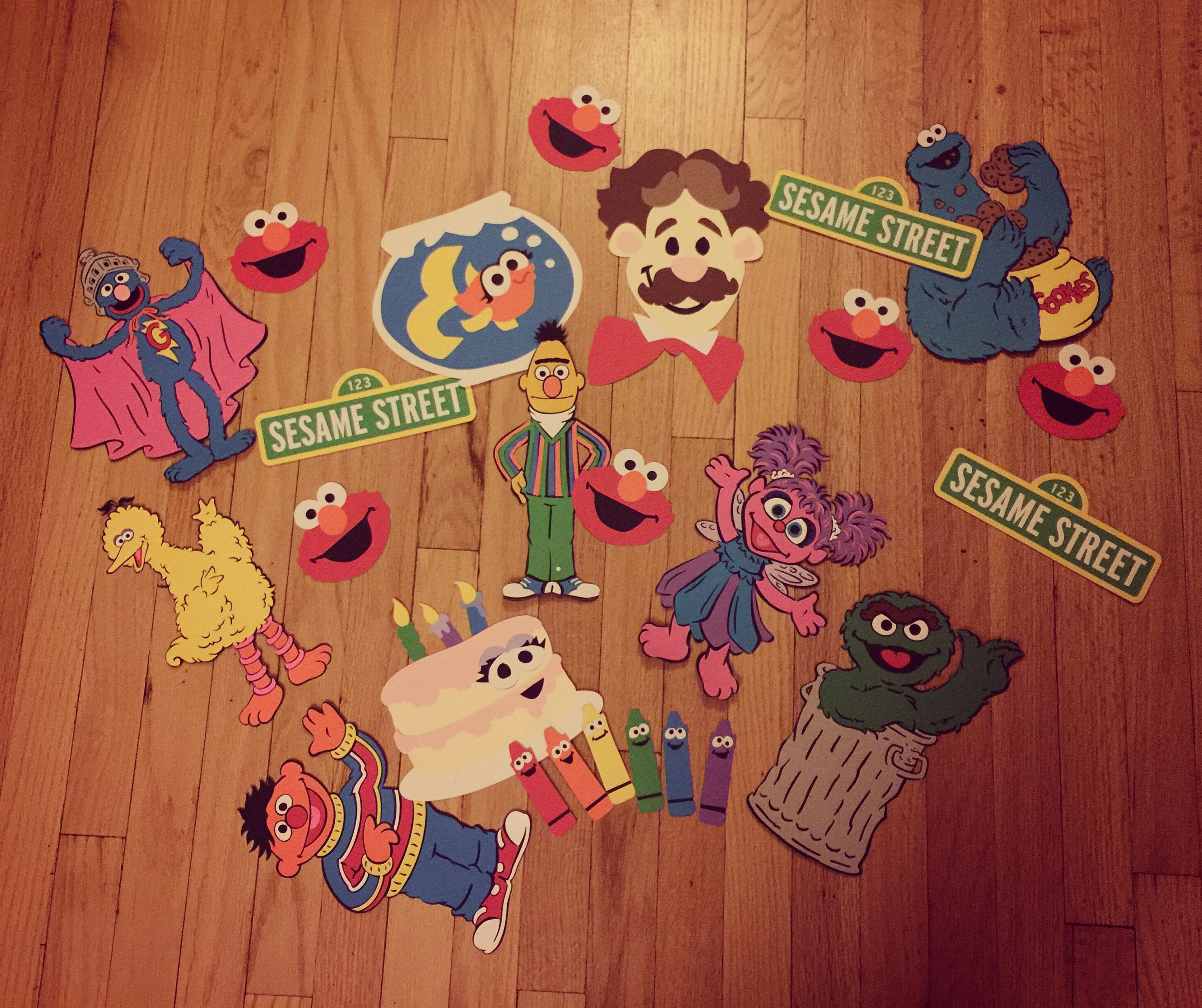 Party prep: Sesame Street diecuts