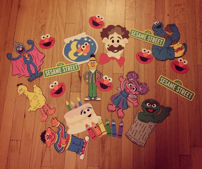 Party prep: Sesame Street diecuts