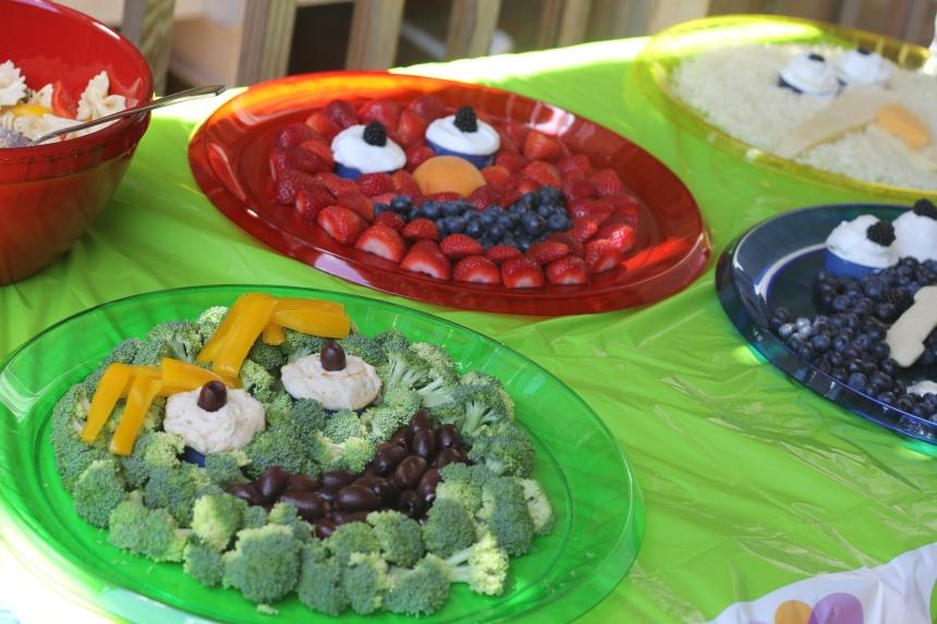 Sesame Street Fruit and Vegetable trays