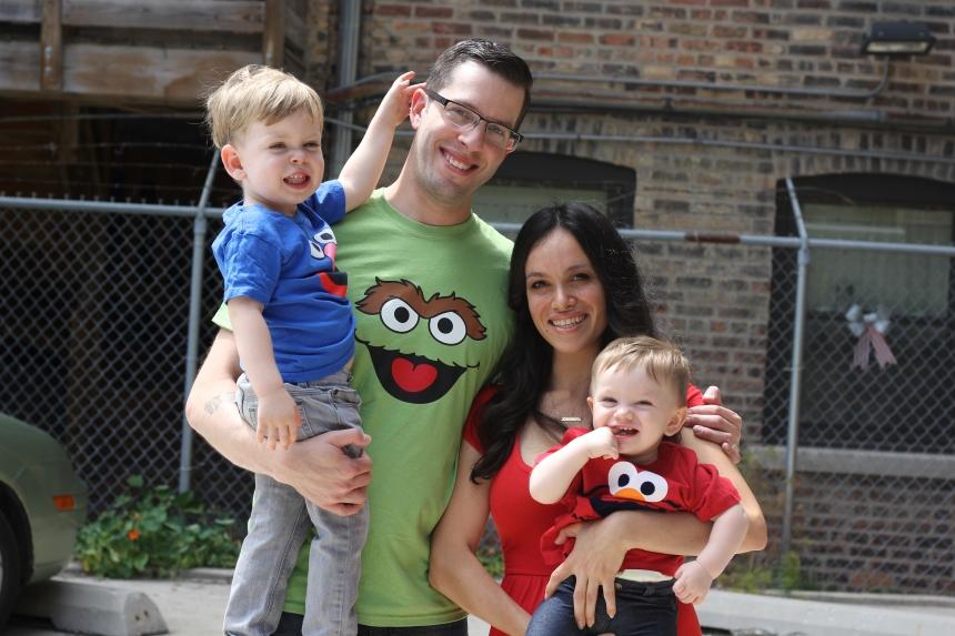 The Sesame Street birthday family