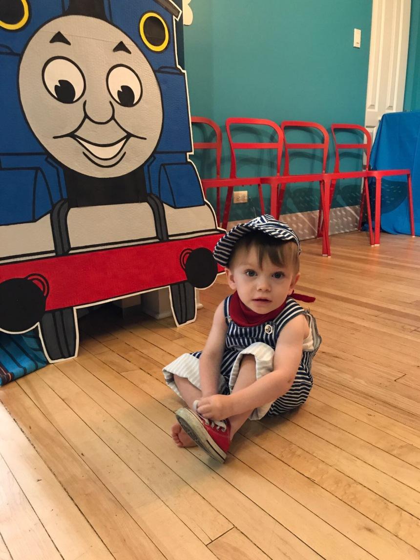 Thomas the Train photo backdrop