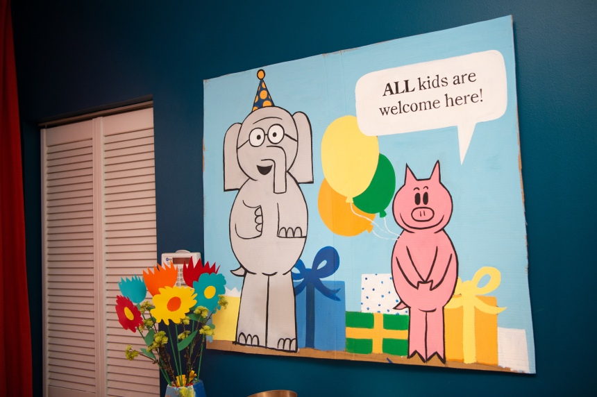 All kids are welcome here - Elephant and Piggie Bday