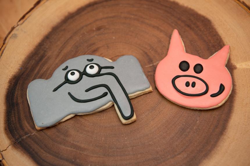 Elephant and Piggie Cookies Close Up